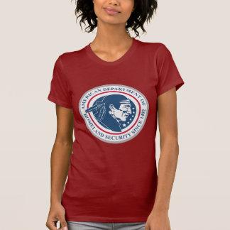 Seguridad de patria, nativo americano camisetas