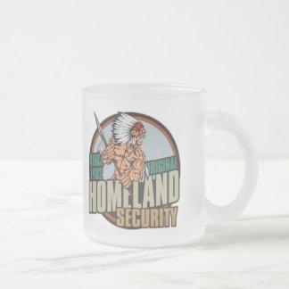 Seguridad de patria original taza de café esmerilada