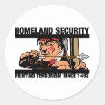 Seguridad de patria pegatinas redondas