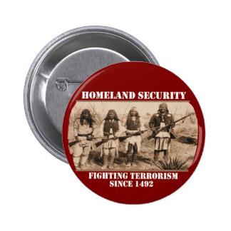 Seguridad de patria pin redondo de 2 pulgadas