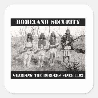 SEGURIDAD de PATRIA que guarda las fronteras desde Pegatina Cuadrada