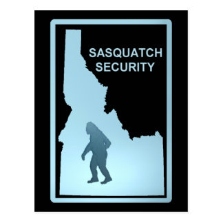 Seguridad de Sasquatch - Idaho Postales