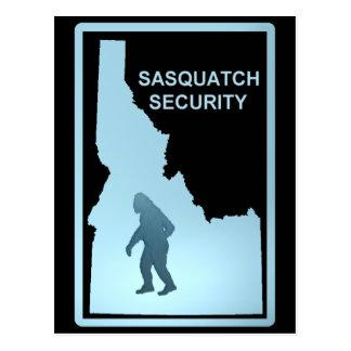 Seguridad de Sasquatch Tarjetas Postales