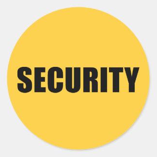 Seguridad del acontecimiento etiquetas redondas