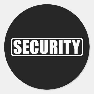 Seguridad del acontecimiento pegatinas