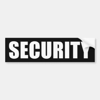 Seguridad del acontecimiento pegatina para auto