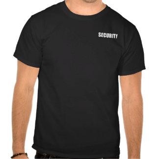 Seguridad del acontecimiento camiseta