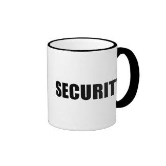 Seguridad del acontecimiento taza de café