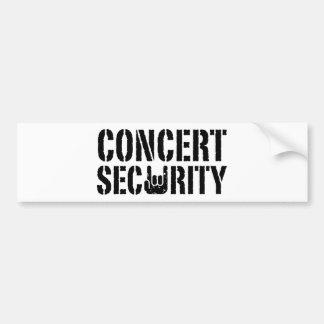 Seguridad del concierto pegatina de parachoque