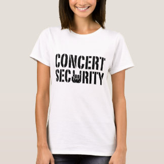 Seguridad del concierto playera