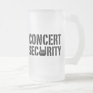 Seguridad del concierto tazas de café