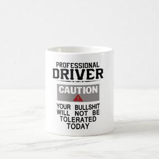Seguridad del conductor de camión taza de café