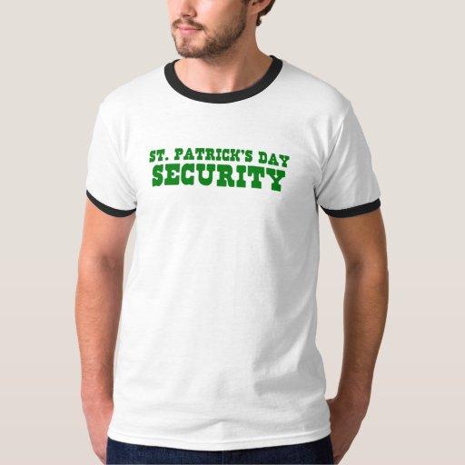 Seguridad del día de St Patrick Playera