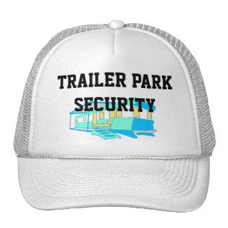 Seguridad del parque de caravanas gorra
