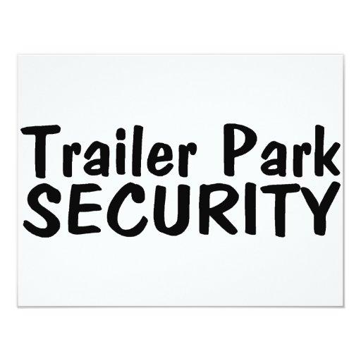 """Seguridad del parque de caravanas invitación 4.25"""" x 5.5"""""""