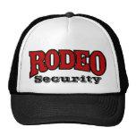Seguridad del rodeo gorras de camionero