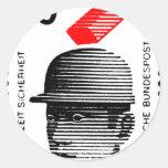 Seguridad del trabajador en Alemania Etiqueta Redonda