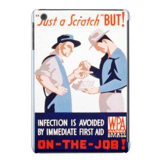 Seguridad del vintage en el poster de WPA de los Funda De iPad Mini
