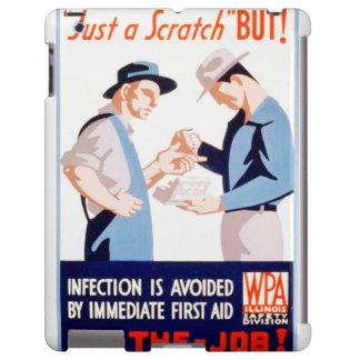 Seguridad del vintage en el poster de WPA de los Funda Para iPad
