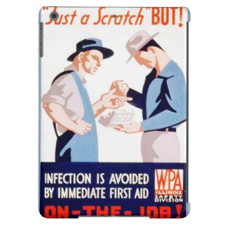 Seguridad del vintage en el poster de WPA de los Funda Para iPad Air
