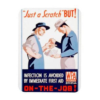 Seguridad del vintage en el poster de WPA de los Iman