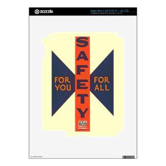 Seguridad del vintage para usted pegatinas skins para iPad 3