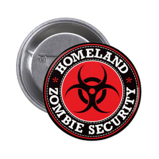 Seguridad del zombi de la patria - B rojo Pin
