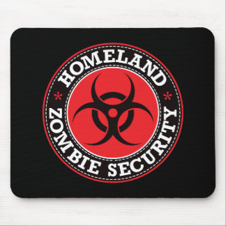 Seguridad del zombi de la patria - B rojo Tapete De Raton