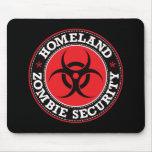 Seguridad del zombi de la patria - B rojo Alfombrillas De Ratón