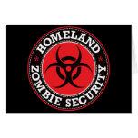 Seguridad del zombi de la patria - B rojo Felicitaciones