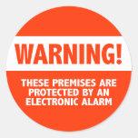 Seguridad electrónica de la alarma antirrobos amon etiqueta redonda