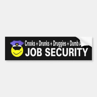 seguridad en el empleo etiqueta de parachoque