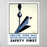 Seguridad en la construcción WPA 1937 Posters