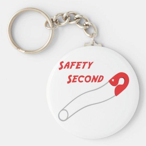 Seguridad en segundo lugar llaveros