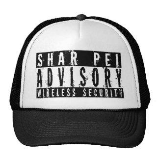 Seguridad inalámbrica consultiva de Shar Pei Gorro De Camionero
