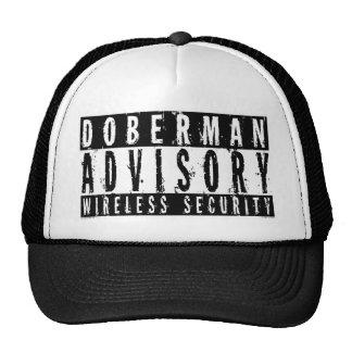 Seguridad inalámbrica consultiva del Doberman Gorras De Camionero