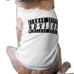 Seguridad inalámbrica consultiva del pastor alemán camisa de perro