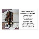 Seguridad oxidada de la cerradura del perno de dia tarjeta de visita