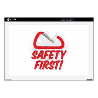 Seguridad primero calcomanía para 43,2cm portátil