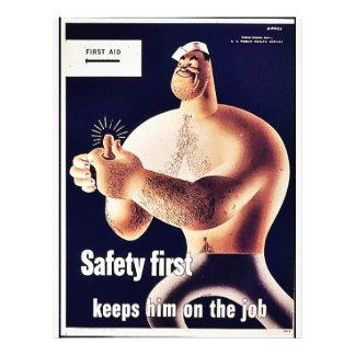 """Seguridad primero folleto 8.5"""" x 11"""""""