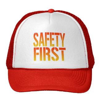 Seguridad primero gorros