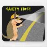 Seguridad primero Mousepad del armadillo Alfombrilla De Ratón
