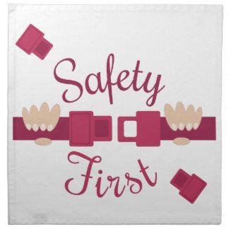 Seguridad primero servilletas imprimidas