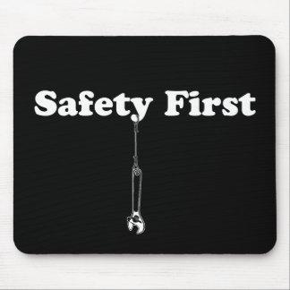 Seguridad primero alfombrillas de ratón