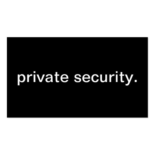 Seguridad privada tarjeta de visita