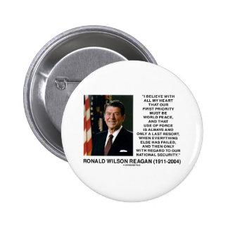 Seguridad Reagan del último recurso de la fuerza Pin Redondo 5 Cm