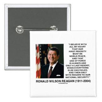 Seguridad Reagan del último recurso de la fuerza Pin Cuadrada 5 Cm