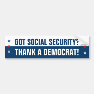 ¿Seguridad Social conseguida? Etiqueta De Parachoque