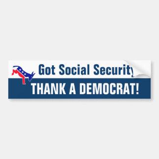 ¿Seguridad Social conseguida? Pegatina Para Auto