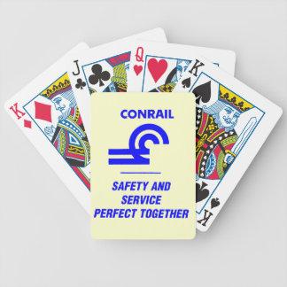 Seguridad y servicio de Conrail perfectos junto Baraja De Cartas
